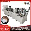 2021 full automatic high speed 100% steel 80-90pcs per min KN95 mask machine