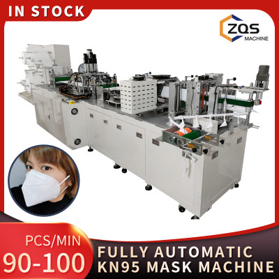 2021 full automatic high speed 100% steel 90-100pcs per min KN95 mask machine