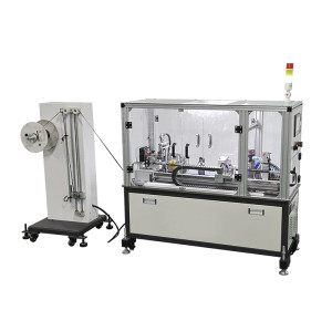 automatic cable inserts nylon tube machine
