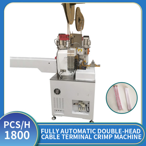 Fully automatic double-head terminal machine