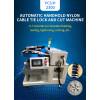 Handheld nylon thread tie lock and cuting machine