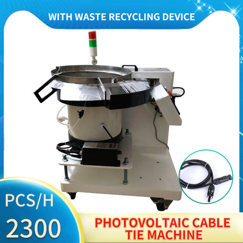 Photovoltaic wire cable tie machine