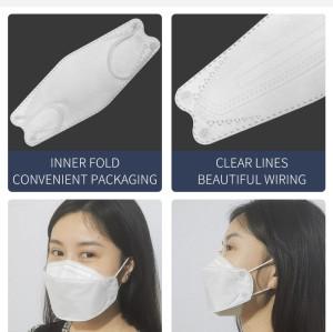 1+1 KF94 fish mask machine with flip device and ear loop folding device 130-160pcs per min