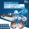 2021 fully automatic headband KN95 N95 2D mask making machine with double ear loop welding position 60pcs per min
