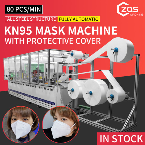 2021 fully automatic high speed high quality KN95 N95 mask machine with protective cover