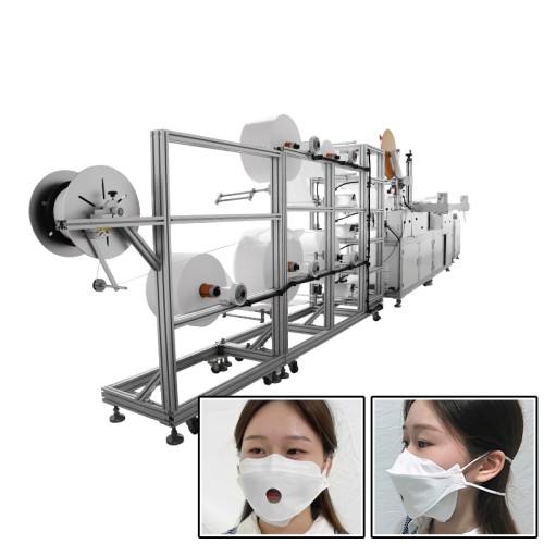 High Speed fully automatic 3M model KF94 headband mask making machine with sponge strip breath valve