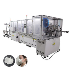Fully Automatic cold pressing 3M cup Mask making machine with ear loop welding machine