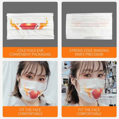 Automatic 1+1 positioning Face Mask Machine 100-120pcs per min