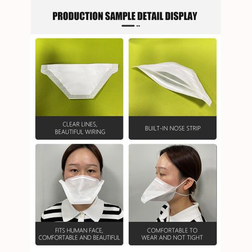 China High Quality Fully Automatic Non Woven Duckbill Mask Making Machine 60-80pcs per min