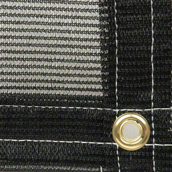 Lonas de malla resistente al 70% de color negro con garantía UV