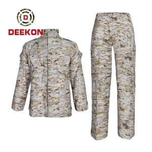China military uniform manufacture Best Desert Digital Camo Pattern Rip-stop Combat Uniform--ACU