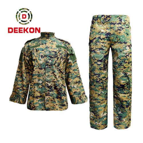 military uniform factory Best Panama Woodland Military Camo T/C 65/35 Army Jacket with Tactical Trousers