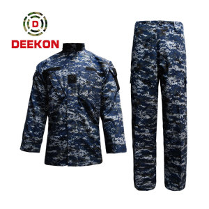 Best Ocean Blue Senegal Camouflage Uniform Military supply Army Jacket for Navy