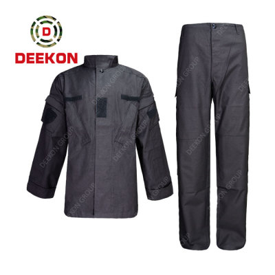 China Factory for 100% Cotton Ripstop Grey Color Army Uniforms