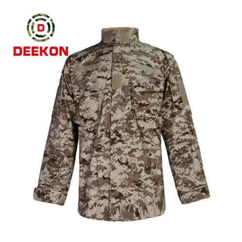 China Military Uniform manufacture Saudi Arabia Desert Digital Camo T/C 65/35 Plain Tactical Shirt