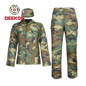Deekon Supply Woodland camouflage CVC Military Suit with Cap