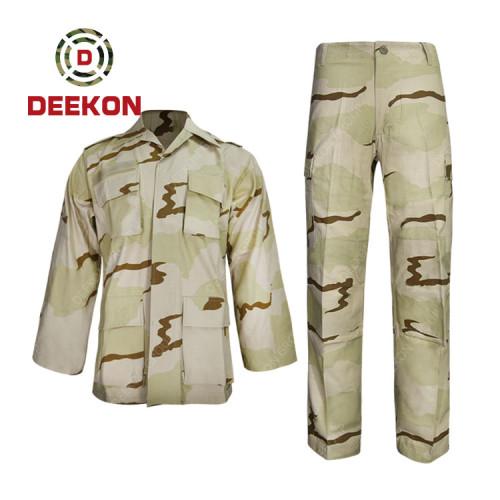 China Supply Hungary 3 colour Desert Camouflage TC Military Uniform--Battle Dress Uniform