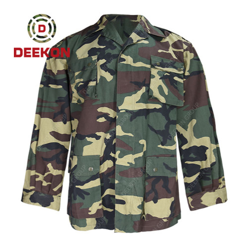 Deekon supply Best Woodland Nigeria Water Resistant Camouflage CVC Military Clothes for Army