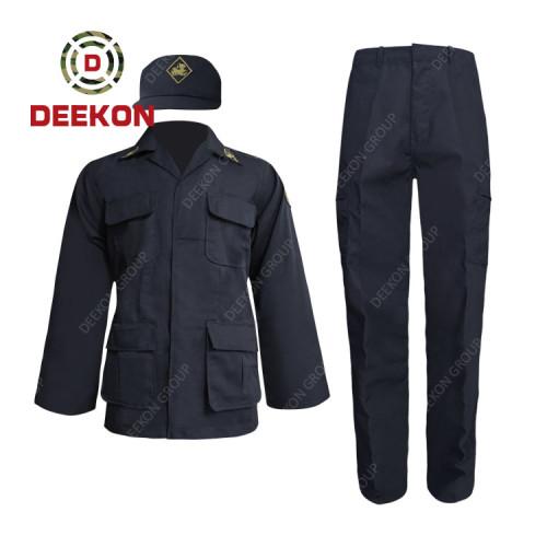 China Supply Dark Blue Battle Dress Uniform for Thailand Army Police