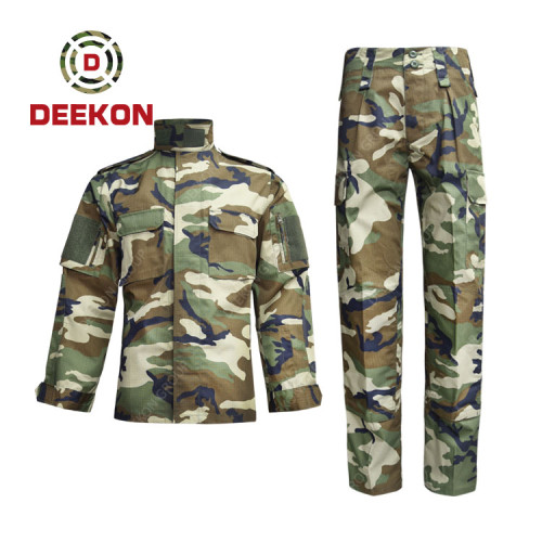 Factory Supply Uganda Military Camouflage Nylon and Cotton Army Fatigues