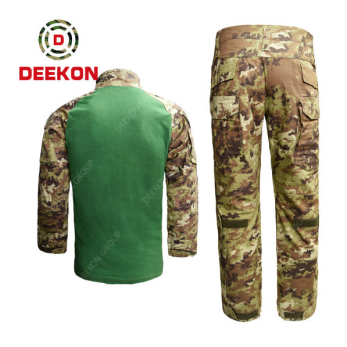 China Factory Supply Italy Army Vegetate Frog Camo Military Fatigues