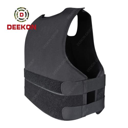 Manufacturer Black Ballistic Vest with Company Logo Printing