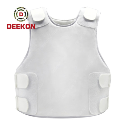 Supplier Light Weight Body Armor White Concealable Vest NIJ IIIA 9mm&.44MA