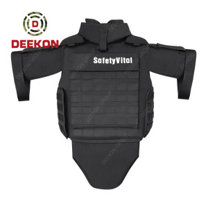 Manufacturer Bulletproof Jacket Full Body Army Black Ballistic Vest Level IIIA Ak47 Protection