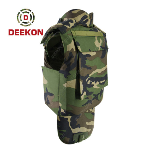 Supplier Bulletproof Vest Woodland Military Full Neck Protection Body Armour