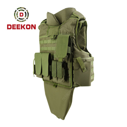 Supplier Bulletproof Vest Military Green Custom  with Pouches for Army Use
