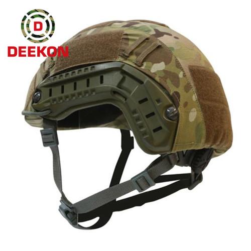 Deekon Supply NIJ IIIA FAST Ballistic Helmet with Multicam Camouflage Fabric