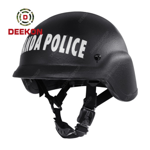 China Factory Made Black PASGT Bulletproof Helmet UHMWPE Helmet with Customized Logo for Uganda Police Use