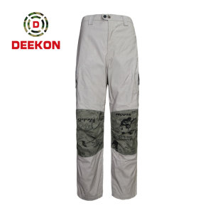 Deekon factory supply New Design Tactical Cargo Outdoor Military Camouflage Trousers