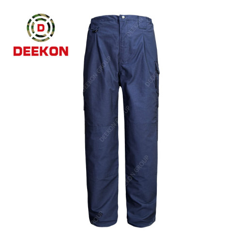 Deekon supply High Quality Cotton Casual Full Length Tactical Military Cargo Trousers for Police