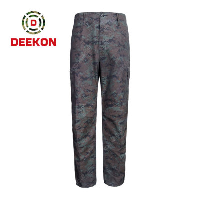 China factory OEM Design Men Cargo Pants Military Camoufalge Fashion Cotton Casual Trousers