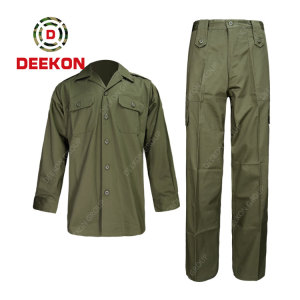 Deekon factory Modern Design Soft Cotton Mens Long Sleeve Casual Military Shirts for Army