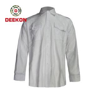 China Factory supply Good Quality Custom Army Uniform Military Stand-up Collar shirt