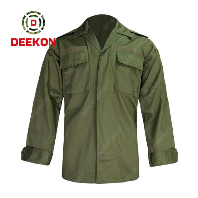 Deekon factory wholesale High Quality Export Oriented Military 100% Cotton Men's Long Sleeve Shirts