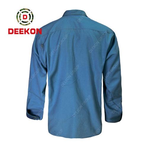 Deekon factory supply Sudan Military Officer Shirt Breathable Tactical Army Uniform Comfortable Dress Shirt