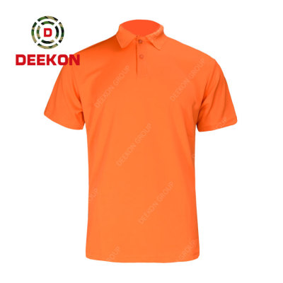 Deekon factory supply Poly Cotton Military Tactical Clothing Army Combat Orange Color Shirt