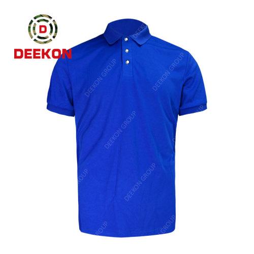 Deekon factory manufacture 100% Cotton Military Men Short Sleeve Plus Size shirt Summer Shirts
