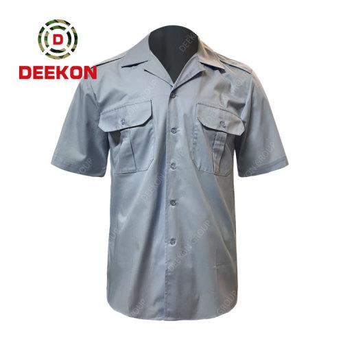Deekon company manufacture Malawi Military Army V-shape Collar Tactical Short Sleeve Shirts