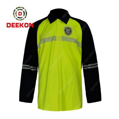 Deekon Factroy manufacture Design New Design Color Matching Policia Long Sleeve Shirt