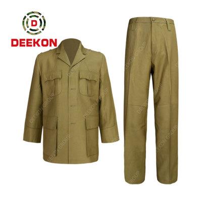 DEEKON factory Saudi Arabia officer ceremonial dress uniform suit Khaki color custom military suit