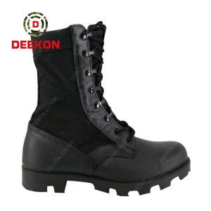 Thailand Army Using Waterproof Tactical SWAT Military Real Leather Boots