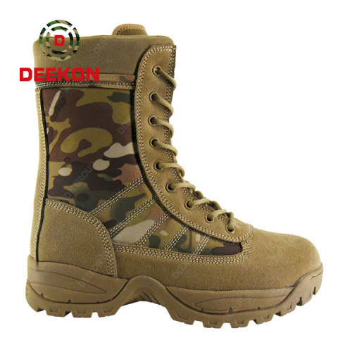 Deekon Supply Multicam Camouflage Canvas Rubber Military Tactical Boots