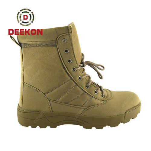 Deekon Khaki Color High Ankle Tactical Military Desert Boots for Hiking