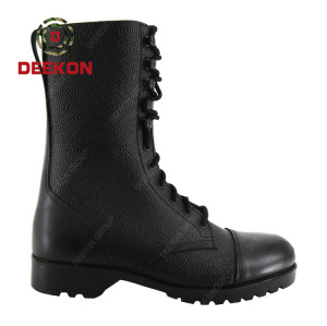 Deekon high Quality Black Military Boot Tactical Boot for Army Hiking