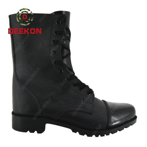 High ankle black jungle genuine leather army boot military army combat boots