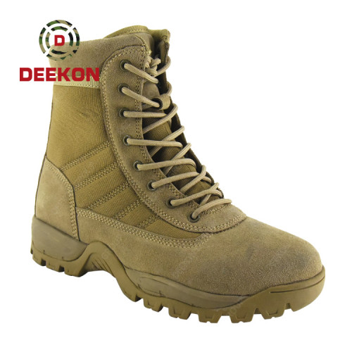 Customized Men Desert Tactical Military Boots Mens Work Safty Shoes Army Boot